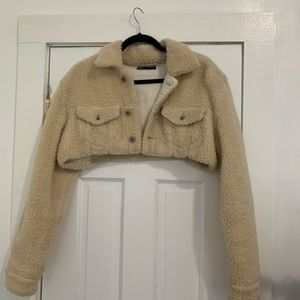 Off White/Levis Cropped Jacket